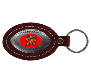 Maryland Terrapins Leather Key Chain - NCAA College Football Licensed - Maryland Terrapins (Maryland Terrapins Leather)