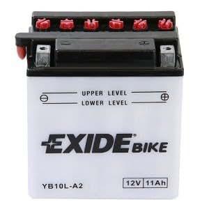 Bateria de moto Exide YB10L-A2 Con pac de acido inc. 12V 11Ah