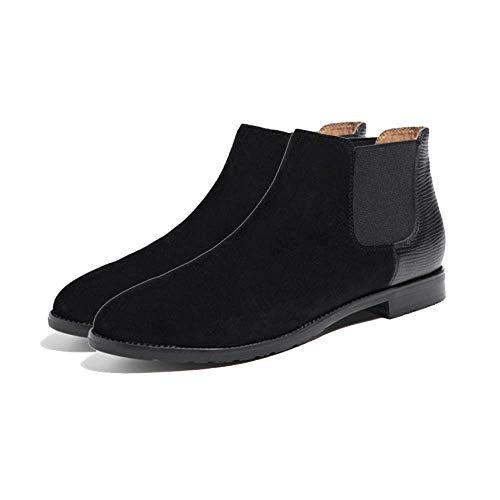 Booties épaisses Zpedy bottes et femmes Martin Chelsea Blackplusvelvet bottes HPwq5TR