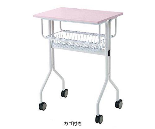 8-5404-03ワークテーブルピンクカゴ付き645×445×900mm B07BDP6THR
