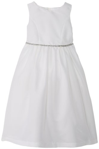 Price comparison product image Pippa & Julie Little Girls' Toddler Shantung Flower Girl Dress, White, 2