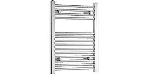 Heated Rail (Thermae 500 x 800mm Chrome Heated Towel Rail STR508C Dual Fuel Flat Profile by Kartell)