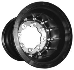 Hiper Technology Tech 3 ATV Carbon Fiber Wheel - Single Beadlock - 9x8 - 3+5 Offset - 4/110,4/115 - Black , Wheel Rim Size: 9x8, Rim Offset: 3+5, Color: Black, Bolt Pattern: 4/110,4/115, Position: Rear