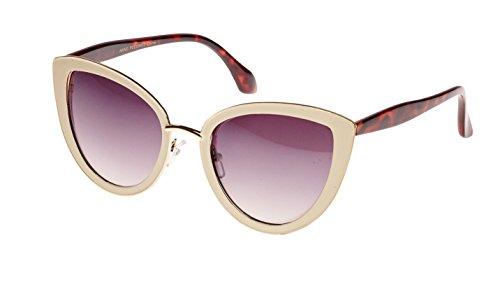 Revive Eyewear Vintage Parisian Cat Eye Style Sunglasses (Cream, - Sunglasses Eye Cream Cat