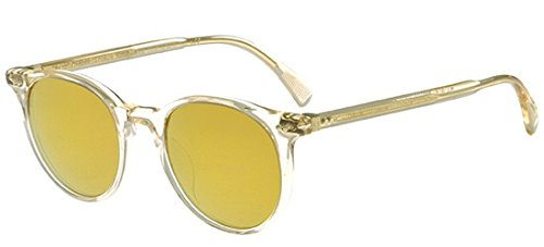 Delray Glass - Oliver Peoples Unisex Delray Sun Buff/Amber Goldtone Sunglasses