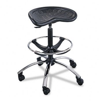 Stools Drafting 27 (Safco 6660BL Sit-Star Stool with Footring & Caster, 27 -36h Seat, Black/Chrome)