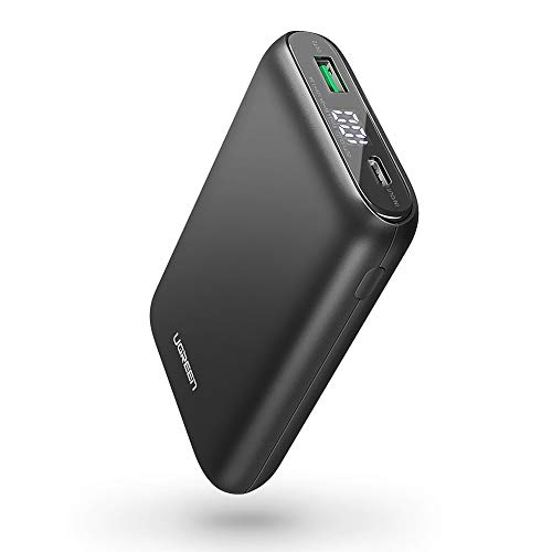 UGREEN Portable Charger 10000mAh PD 18W USB C Power Bank Power Delivery 3.0 Battery Pack QC 3.0 Fast Charge with LED for iPhone 11 Pro Max, XR XS Max X 8, iPad, Nintendo Switch, Samsung, LG, Phones (Best Power Bank For Samsung Note 3)