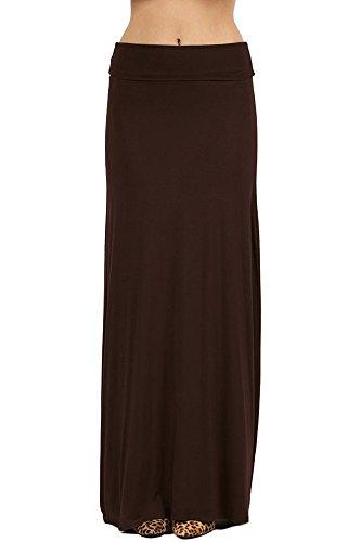 Skirt Americana - NioBe Clothing Womens Solid Long Draped Maxi Skirt (Large, Americano)
