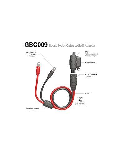 Motodak Cable Alargador Compatible con Noco Booster Ojales SAE 50 CM