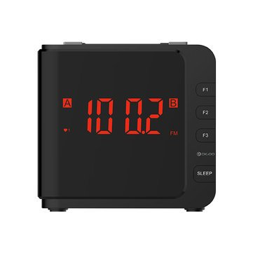 Digital Clock Radio - Dual Alarm Clock Radio - DG-CR7 LED Large Display USB Alarm Clock Radio Digital AM/FM Radio Dual Alarm With Snooze (Digital Alarm Clock Radio)]()
