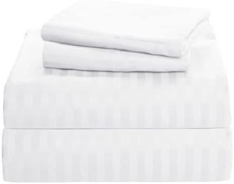 15 Inch Deep Pocket~3 PCs Fitted Sheet-Egyptian Cotton 1000 TC White Solid