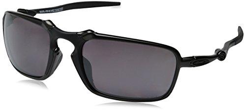 Oakley Men's Badman OO6020-06 Polarized Rectangular Sunglasses, Dark Carbon, 60 ()