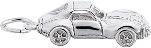 Rembrandt Classic American Sports Car Charm - Metal - Sterling Silver ()