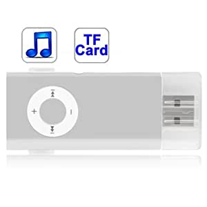 TF (MicroSD) Card Slot Clip MP3 Player with Silver ()