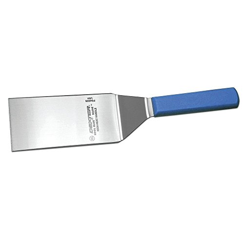 (Dexter Cool Blue? Basics? Stainless Steel Hamburger Turner with Blue Polypropylene Handle - 6