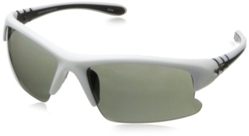 Greg Norman G4401 Sport Semi Rimless Extreme Lens Sunglasses,Matte White & Black, 70 mm by Greg Norman
