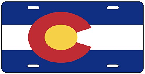Rogue River Tactical Colorado State Flag License Plate Novelty Auto Car Tag Vanity Gift - License Plate Tag Colorado