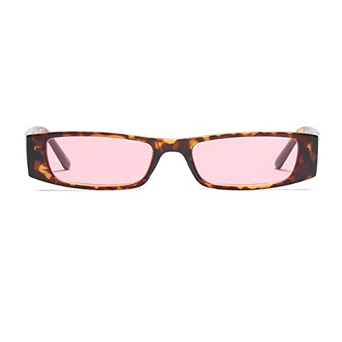 Marco Fiesta Escoger Pink Color Moda para Rectángulo UV400 C3 Deylaying Bisagra Lente Mujer 6 de Estilo primavera Pequeña Gafas Retro Leopard de sol Gafas HRPHwgZqx
