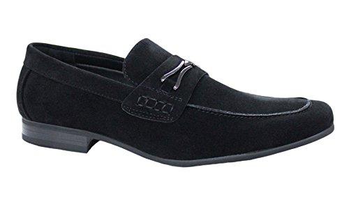 Mocassini scarpe uomo neri casual eleganti mans shoes top quality (45)