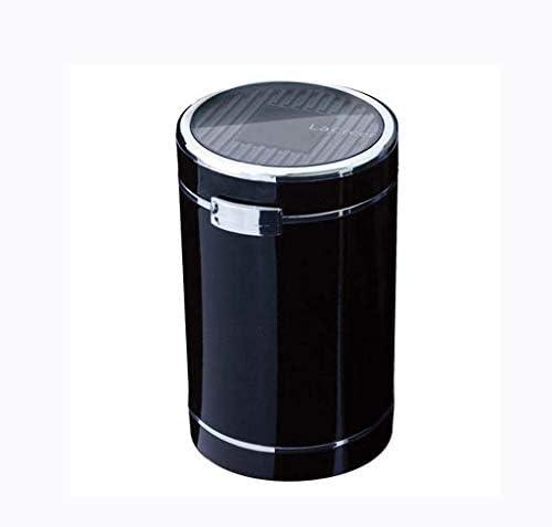 カーブルーライト灰皿ルミナスLEDライトソーラーゴールドブラック (Color : Black)