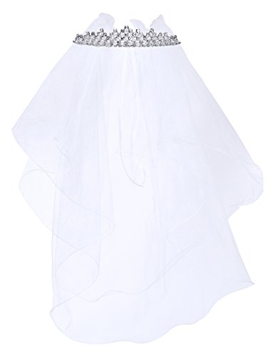 Kids Dream Precious First Communion Flower Girl Veil w/Elegant Princess Crown for Girls by Kid's Dream (Image #1)