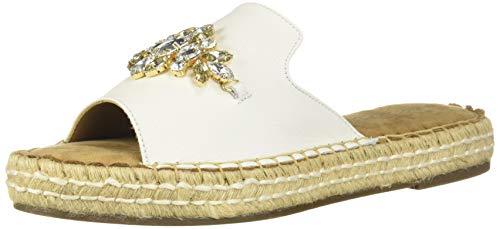 Aerosoles Women's Press Work Flat Sandal White Leather 7 M US ()