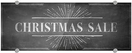 Christmas Sale CGSignLab 8x3 5-Pack Chalk Burst Premium Brushed Aluminum Sign