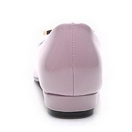 AalarDom Mujer Sin cordones Puntiagudo Material Suave Sólido De salón Morado-Diamante de Imitación