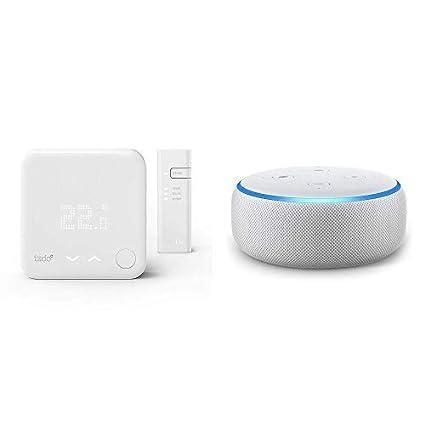 Echo Dot gris claro +A: Termostato Kit de Inicio V3+