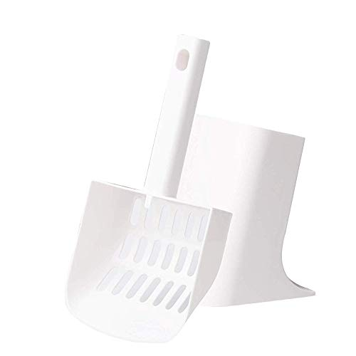pidan Cat Litter Scoop with Stand Cat Scooper with Holder and Caddy Solid and Durable Eco-Friendly Material, Easy to…