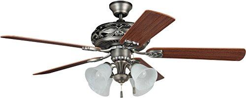 Craftmade Ceiling Fan with Light GD52AN5C Grandeur Antique Nickel 52 Inch (Craftmade Ceiling Fan Light)