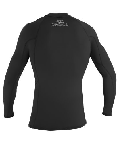 O'Neill Wetsuits UV Sun Protection Mens Basic Skins Long Sleeve Crew Sun Shirt Rash Guard, Black, Large (3 Pack) by O'Neill (Image #2)