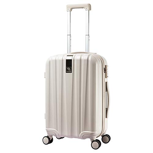 Hanke Hardside Luggage Suitcase - 20 Inch Spinner Luggage Suitcases with TSA Lock Lightweight Carry-On Luggage Trolley Case, Ivory white