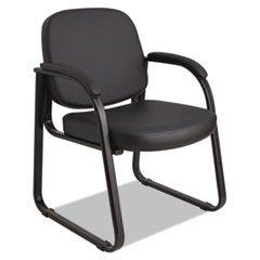 Durable Series Sled Base - Alera RL43C16 Genaro Series Sled Base Guest Chair, Black Vinyl