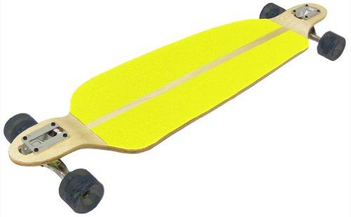 TGM Skateboards DOUBLE DROP LONGBOARD Hybrid Thru and Down SPEED BOARD - YELLOW