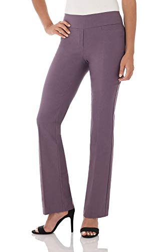 Rekucci Women's Ease in to Comfort Boot Cut Pant (14,Mauve)