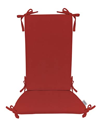 - Indoor/Outdoor Sunbrella Canvas Jockey Red Rocking Chair 2 Pc Foam Cushion Set ~ Choose Size (Back Cushion:17