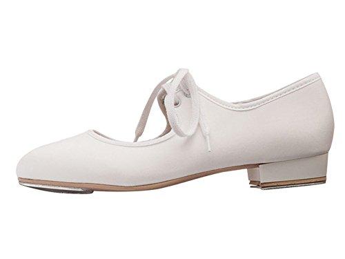 Ladies By Tap White PU Heel Fitted Dancewear Shoes Low amp; Dance Girls Toe Katz Heel pqxdBp7