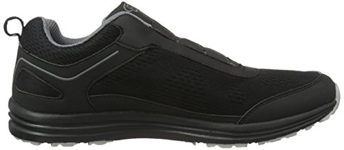 Bruetting Performance Slipper, Mocasines para Hombre Negro (Schwarz/grau)