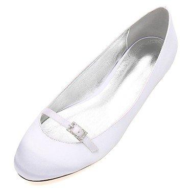 Mujeres'S RTRY Satin US12 Rhinestone amp;Amp; Confort Plana Primavera De Azul Heelivory Bowknot Las Boda Wedding UK10 Rubí Vestido CN46 Champán Verano Noche EU44 Shoes XSrwRX5xq