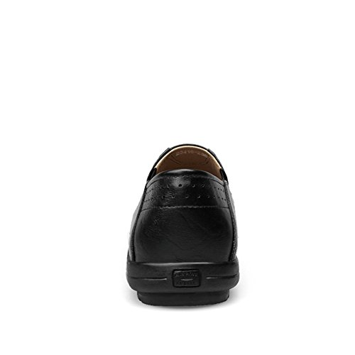 Shenn Sur Cuir Mariage Classique Appartements Black Décontractée Homme Glisser Chaussures Moccasins Flâneurs rq0rRBt