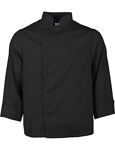 KNG Black Lightweight Long Sleeve Chef Coat by KNG (Image #5)