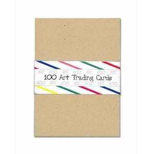 100 BLANK SMOOTH KRAFT ACEO ATC ARTIST TRADING CARDS ~ DRAWING CARDSTOCK