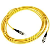 Generic SuperShopperIndia Simplex Single Mode FC to FC Optical Fiber Patch Cord 9/125 Jumper Cable 5 Meters 15 ft (FC/PC - FC/PC)