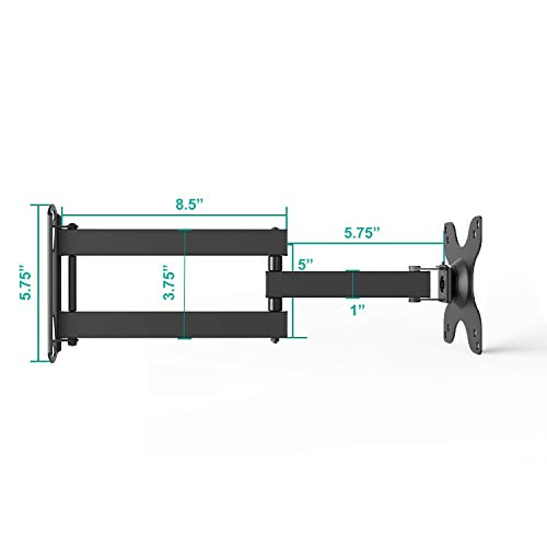 """WALI TV Wall Mount Articulating LCD Monitor Full Motion 14/"""" Extension Arm Tilt"""