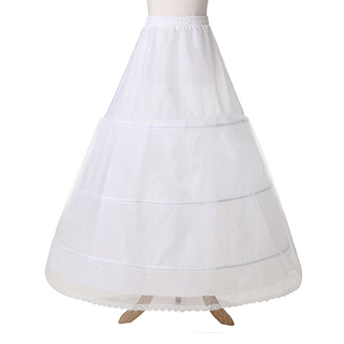Cezom petticoat crinoline bridal underskirt half slip 3 for Underwear under wedding dress