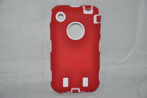 Body Armor for iPhone 3G / 3GS - Red & White (Body Iphone 3gs Armor)