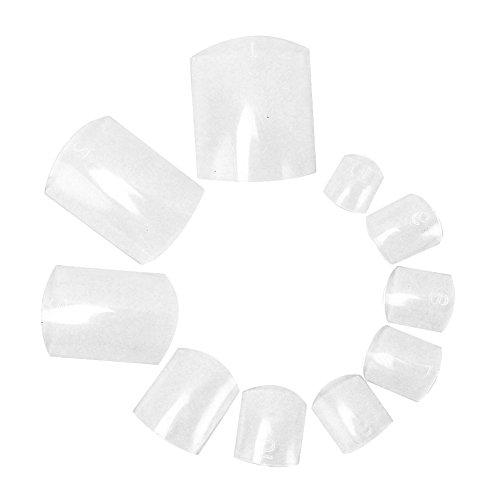 500pcs Plastic Clear Artificial Fake False Nail Art Design for Fingers & Toes