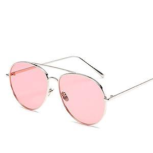 New metallic unisex sunglasses Fashion trendy same ocean multi-color sunglasses,Gold ash,A-1-6669