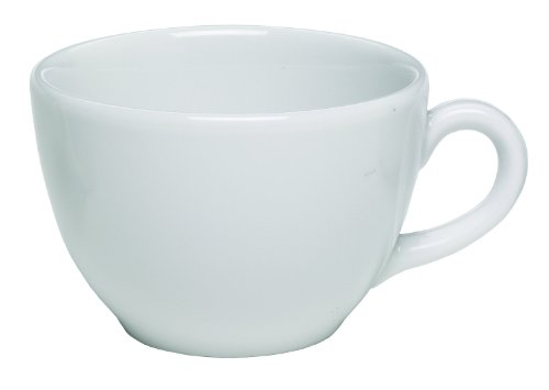 Rattleware Coffee House Collection 6 ounce cup, Set of 6, White
